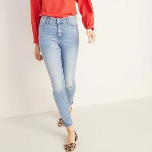 Old Navy Rockstar Super Skinny distressed jeans